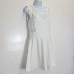 Sans Souci White mesh panel dress M